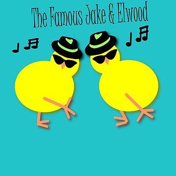 Elwood and Jake tee design by patjila