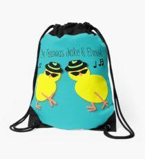 Elwood and Jake tee design Drawstring Bag