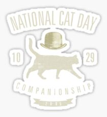National cat day 10.29.2005 vintage Sticker