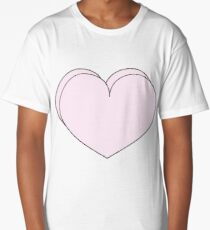 Pink Dimensional Heart Long T-Shirt
