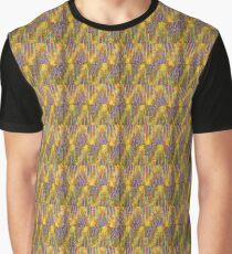 Retro Rainbow Tunisian Stitch Graphic T-Shirt