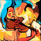 Violin Player Painting by CatarinaGarcia
