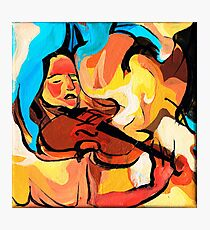 Violin Player Painting Photographic Print