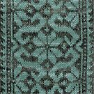 Floral Scroll - Teal by Marsha White