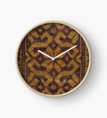 Floral Scroll - Gold Clock