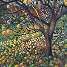 Apple tree contemporary painting by Marion Yeo