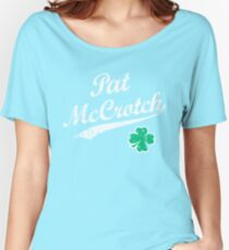 St. Patrick's Day Pat McCrotch Funny Irish Name  Women's Relaxed Fit T-Shirt