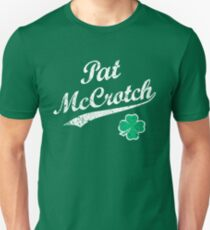 St Patrick Tag Pat McCrotch Lustiger irischer Name Slim Fit T-Shirt