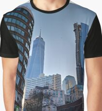 Street, City, Buildings, Photo, Day, Trees, New York, Manhattan Graphic T-Shirt