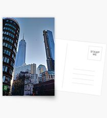 Street, City, Buildings, Photo, Day, Trees, New York, Manhattan Postcards