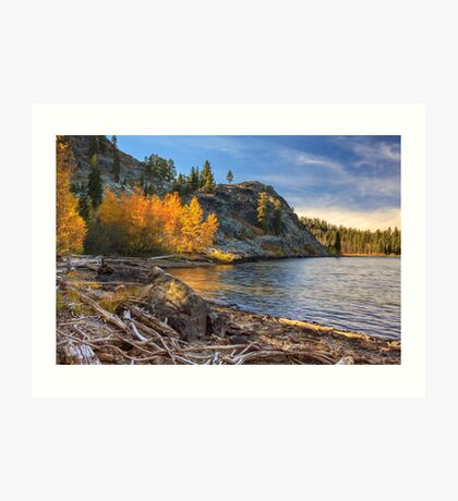 Last Light On Taylor Lake Art Print