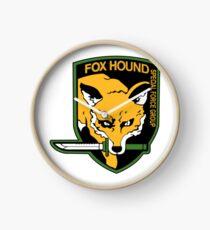 Foxhound Logo Clock