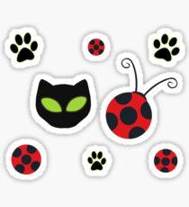 Ladybug and Chat Noir symbols Sticker