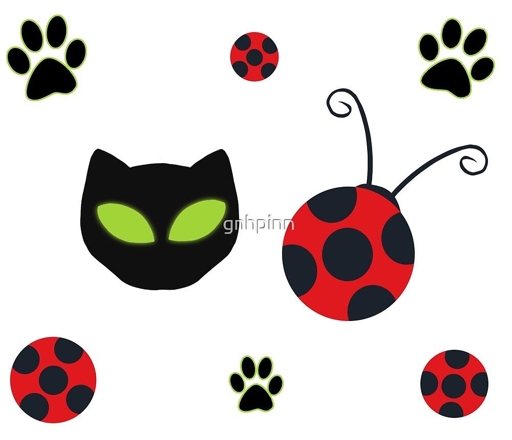 Coccinelle Symbole symboles coccinelle et chat noir » par gnhpinn | redbubble