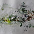 Green mountains of meditation, Original Abstract by Dmitri Matkovsky