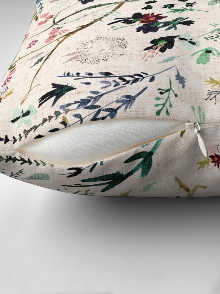 Alternate view of Fable Floral  Throw Pillow