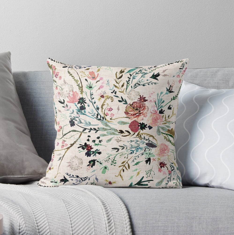 Fable Floral  Throw Pillow