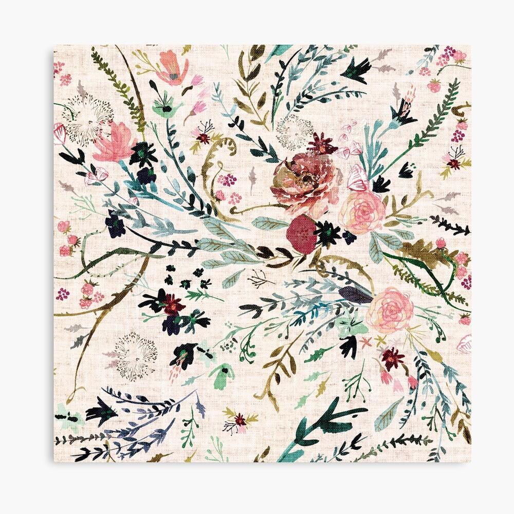 Fabel mit Blumen Leinwanddruck