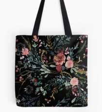 Midnight Floral Tote Bag