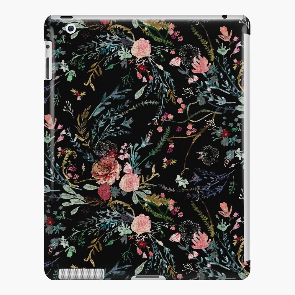 Medianoche floral Funda y vinilo para iPad