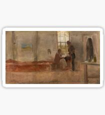Impressionists' Camp by Charles Conder Sticker