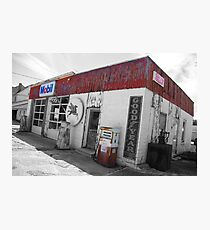 Old Route 66 Garage Photographic Print