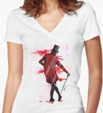 This Is The Greatest Show Women's Fitted V-Neck T-Shirt