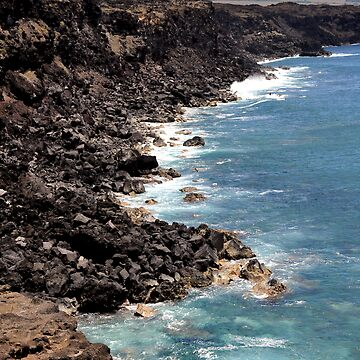 Easter Island cost, pacific ocean by dcrrld
