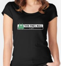 Twin Pines Mall logo (Back to the Future) Women's Fitted Scoop T-Shirt