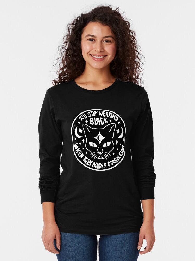 Alternate view of Black Cat Long Sleeve T-Shirt