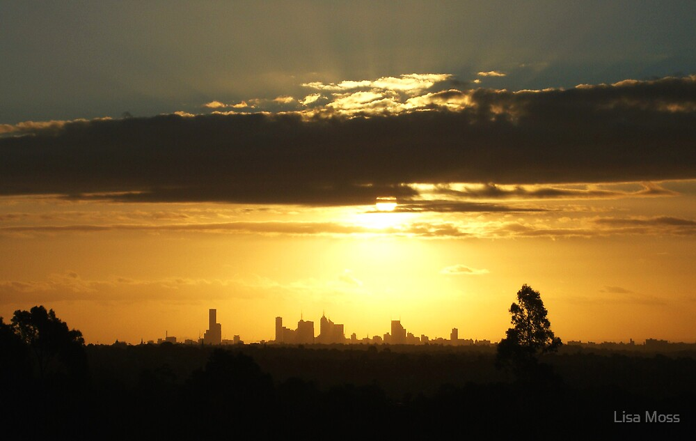 Melbourne by sunset by Lisa Moss