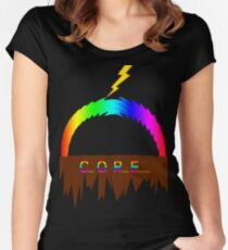 C O R E (Colours Of Rainbow Electrocuted) Women's Fitted Scoop T-Shirt
