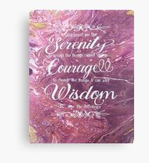 Pink serenity poem Canvas Print