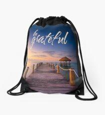 be grateful - Give Back To Nature Drawstring Bag