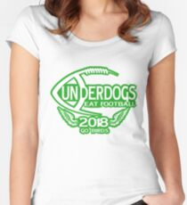 Underdogs Philadelphia Go Birds Eat Football T-Shirt 2018 Women's Fitted Scoop T-Shirt
