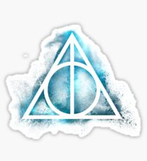 Galaxy Hallows green - sand explosion small - wand, cloak, stone Sticker