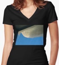 Snowy Overhang Women's Fitted V-Neck T-Shirt