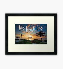 Live Laugh Love - Give Back to Nature Framed Print