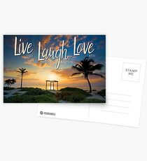 Live Laugh Love - Give Back to Nature Postcards