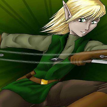 Zakash elf assassin by AnimeGamerGirl