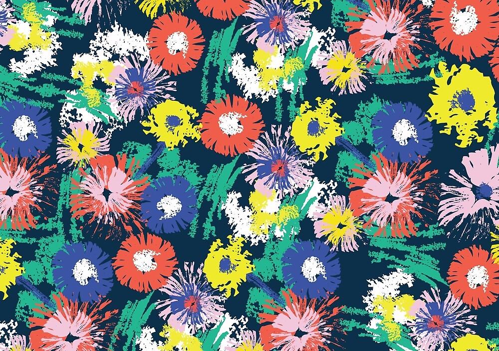 flowerish - painterly floral by TaniaVersloot