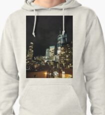 Street, City, Buildings, Photo, Day, Trees, New York, Manhattan Pullover Hoodie