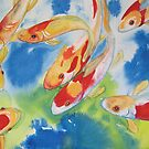 Koi Carp watercolour painting by coolart