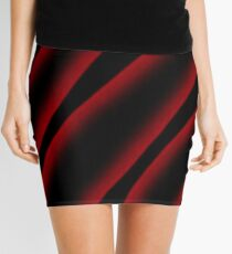 Red and black abstract  Mini Skirt