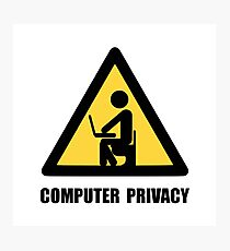 Computer Privacy Photographic Print