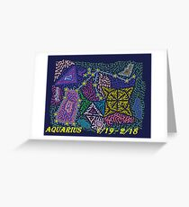 Constellation Aquarius Greeting Card