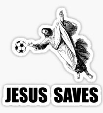 Jesus Saves Soccer Sticker