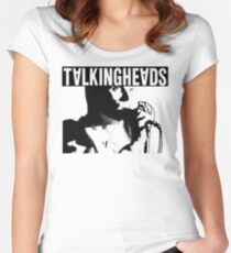 Elio Talking Heads Shirt Women's Fitted Scoop T-Shirt