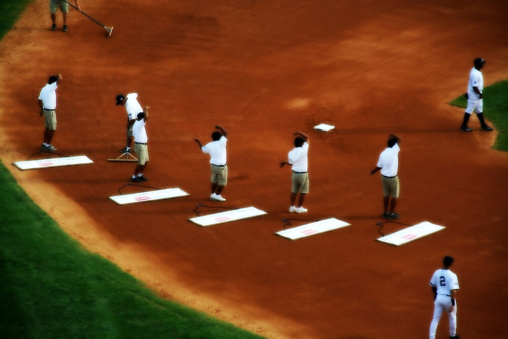 Last Hurrah, Old Timers' Day at Yankee Stadium by John Linton