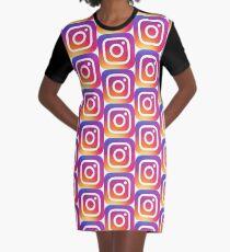 Instagram (Logo) T-Shirt Kleid